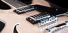 Photo of a semi-hollowbody jazz/rock electic guitar